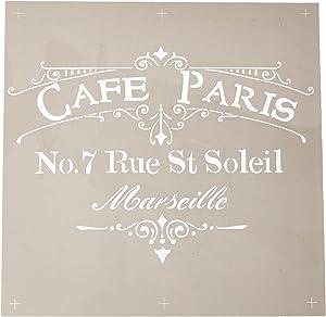 DecoArt ADS-02 Americana Decor Stencil, Cafe Paris