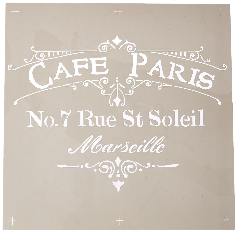 DecoArt ADS-02 Americana Decor Stencil Cafe Paris