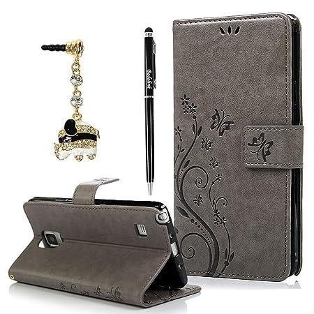 BADALink Handyhülle für Samsung Galaxy Note 4 Hülle Schutzhülle Bunt PU Leder Flip Wallet Case Brieftasche mit Magnetverschlu