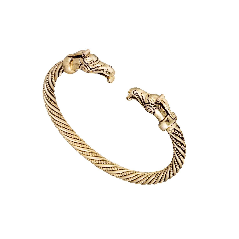 Skyrim Handmade Pagan Viking Dragon Bangles Bracelets for Man and Women
