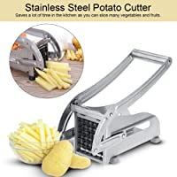 Cortador de frituras, cortador de patata de acero inoxidable Cortador de verduras rebanador de patata Ayudante de cocina