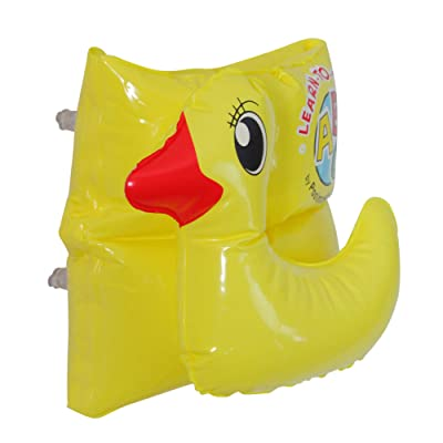 Inflatable Yellow Duck Swimming Pool Arm Float, 8-Inch: Toys & Games