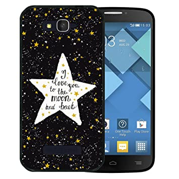 Alcatel One Touch Pop C7 Hülle, WoowCase Handyhülle Silikon für [ Alcatel One Touch Pop C7 ] Star Satz - I Love You To The Mo
