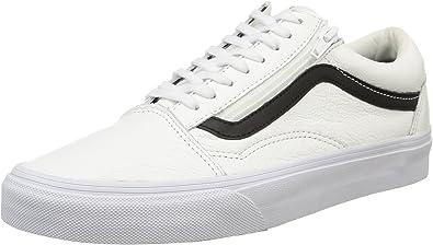 Vans U Old Skool Zip Leather, Sneakers Basses mixte adulte