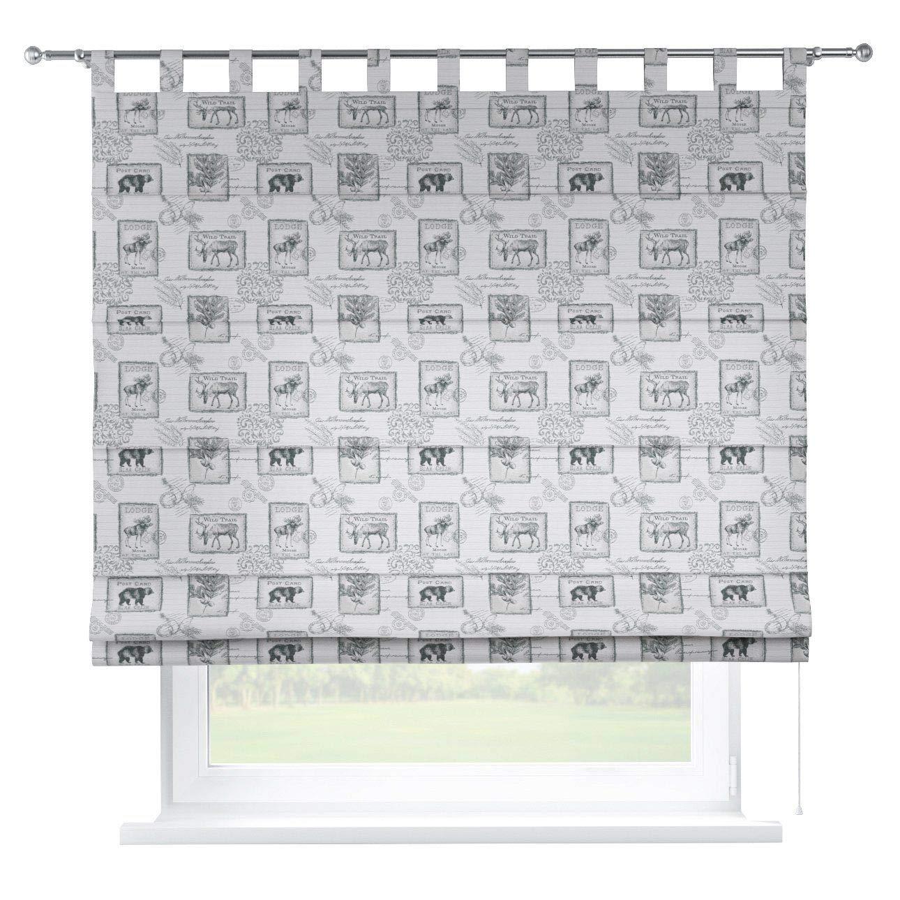 Dekoria Raffrollo Verona ohne Bohren Blickdicht Faltvorhang Raffgardine Wohnzimmer Schlafzimmer Kinderzimmer 130 × 170 cm grau Raffrollos auf Maß maßanfertigung möglich