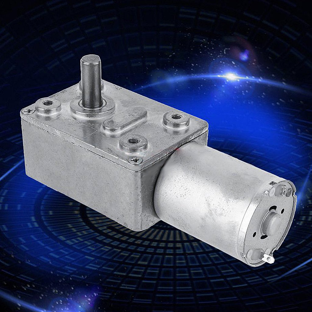 62RPM 62RPM Sharplace Reversible High Torque Turbo Worm Geared Motor DC 12V Reduction Motor 2RPM