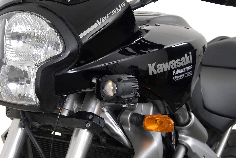 SW-Motech 557 - 200 Soporte de Faro Negro. Kawasaki Versys 650 (07 - 09).: Amazon.es: Coche y moto