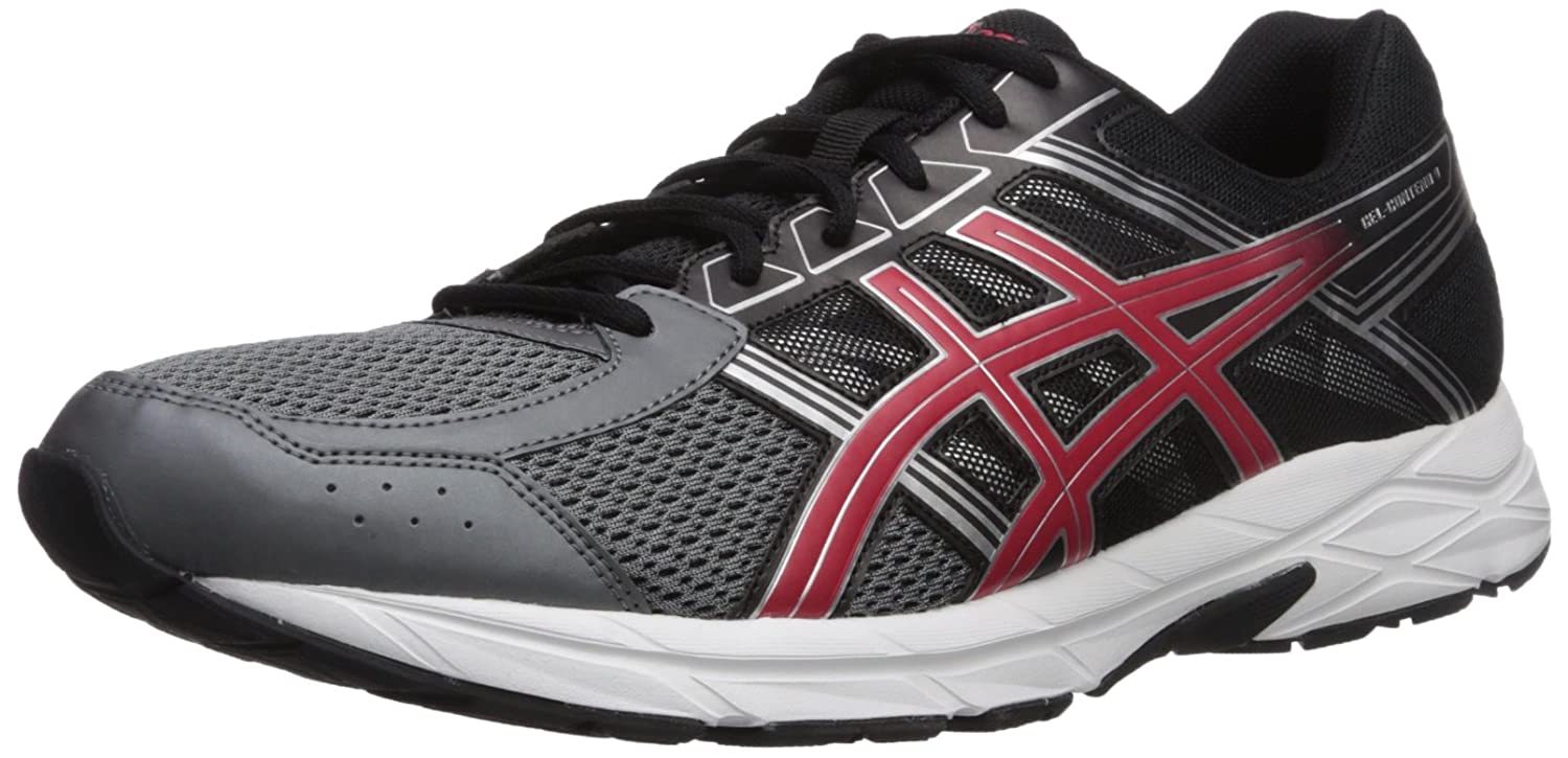 ASICS Womens Gel-Contend 4 Low Top Lace Up Running Sneaker B01MQGEV9M Carbon/Red 14 D(M) US 14 D(M) US|Carbon/Red
