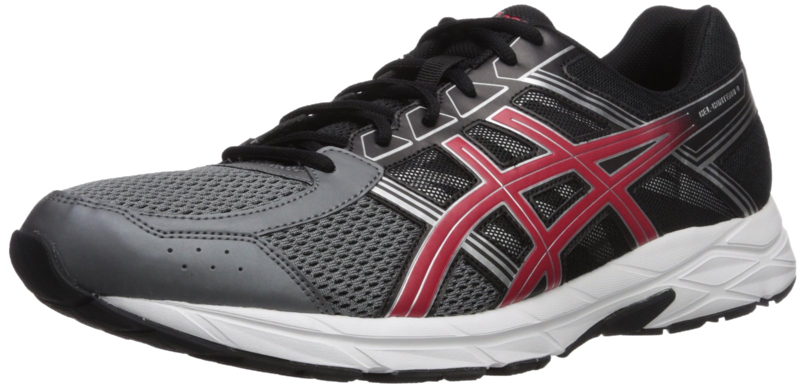 ASICS Men's Gel-Contend 4 Running Shoe, Carbon/Classic Red/Black, 10.5 Medium US