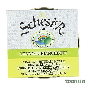 schesir en Caldo - thunfish con pequeñas engraulidae 14 x 70 g gato Forro húmedo: Amazon.es: Productos para mascotas