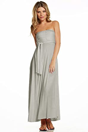 996c9d9cc57c Elan International Ladies Convertible Maxi Dress/Skirt Gray Medium at  Amazon Women's Clothing store: