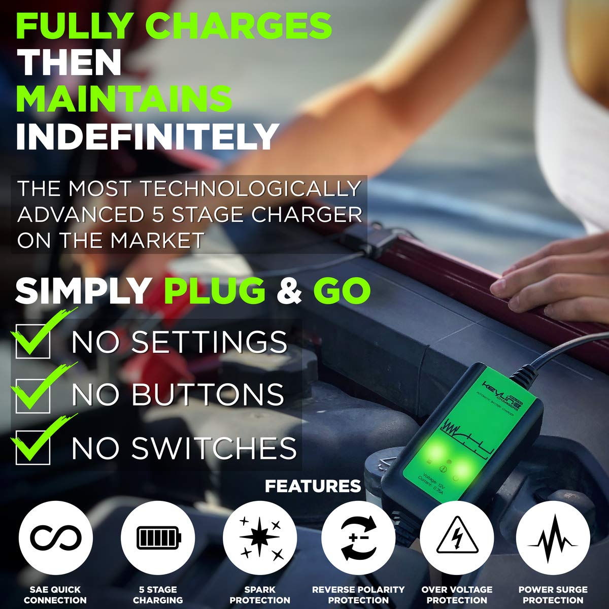Amazon.com: Cargador automático de 12 V para remolque de ...