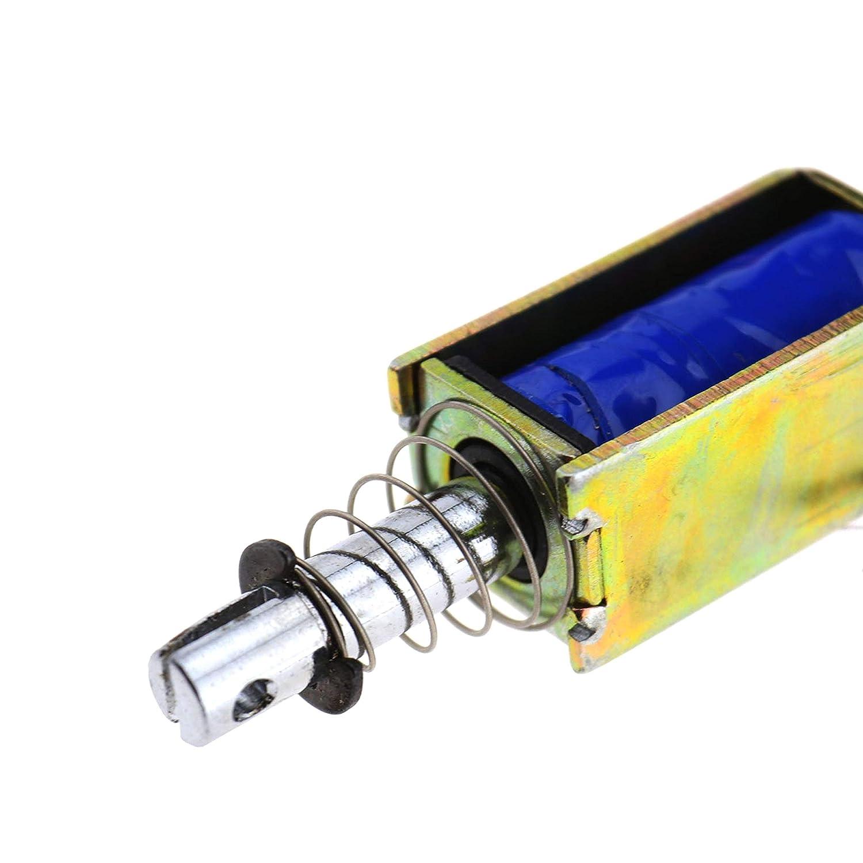 Insmart Herramienta de solenoide de electroim/án Tipo Cuadro de 12V Actuador de im/án el/éctrico Push-Pull