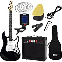 LyxPro Complete Beginner Starter kit Pack Full Size Electric Guitar with 20w Amp, Package Includes All Accessories, Digital Tuner, Strings, Picks, Tremolo Bar, Shoulder Strap, and Case Bag