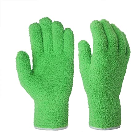EvridWear Microfiber Auto Dusting Cleaning Gloves for Cars and Trucks 2 pairs