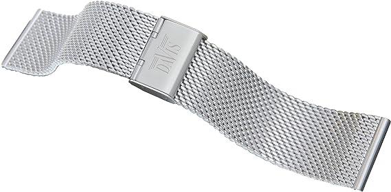 Bracelet Acier Maille Milanaise Argenté Montre 20mm My-Montre