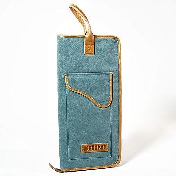 PaoPao - Funda para baquetas (hecha a mano, piel), diseño ...