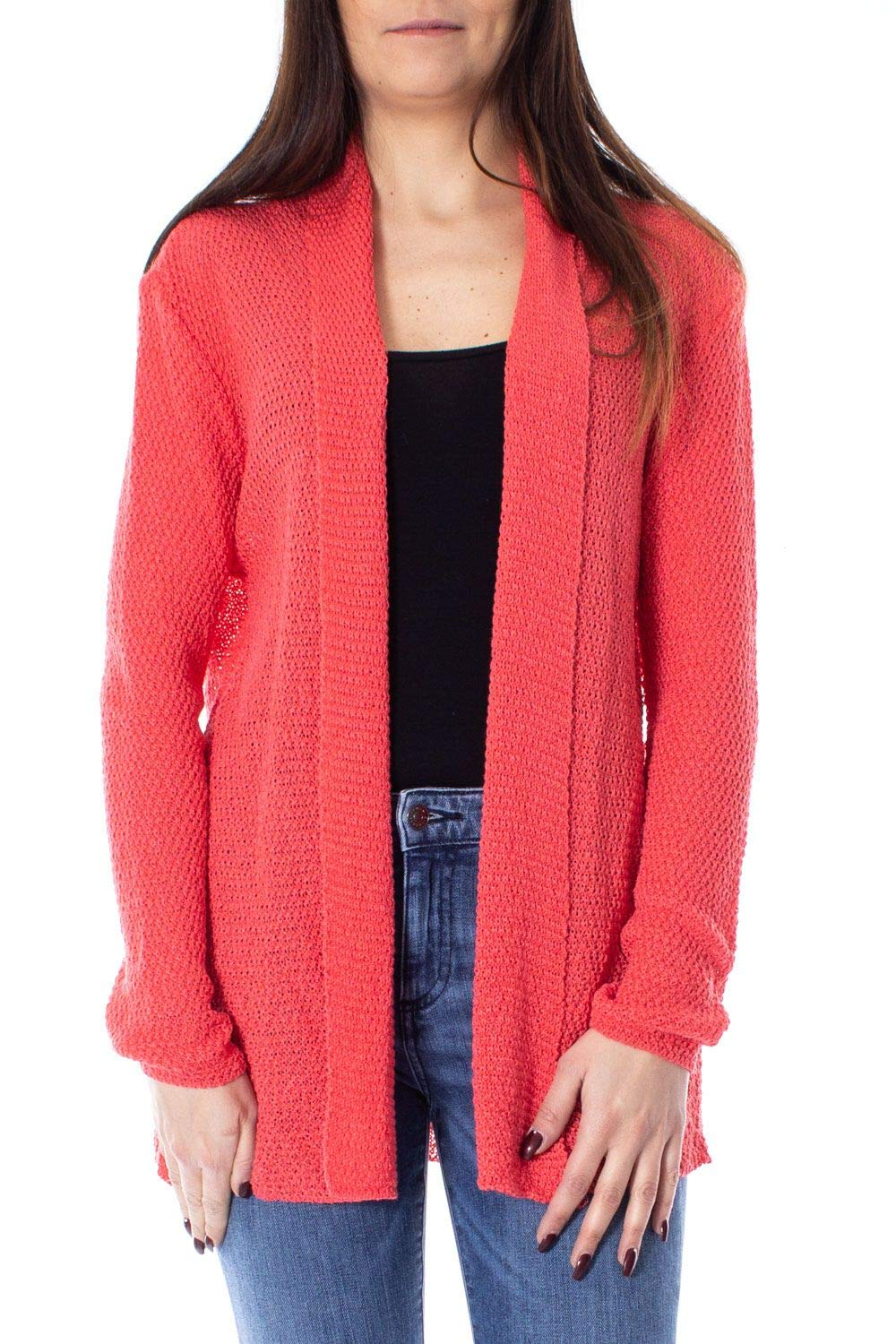 One.0 Women's OZ17RED Red Acrylic Cardigan