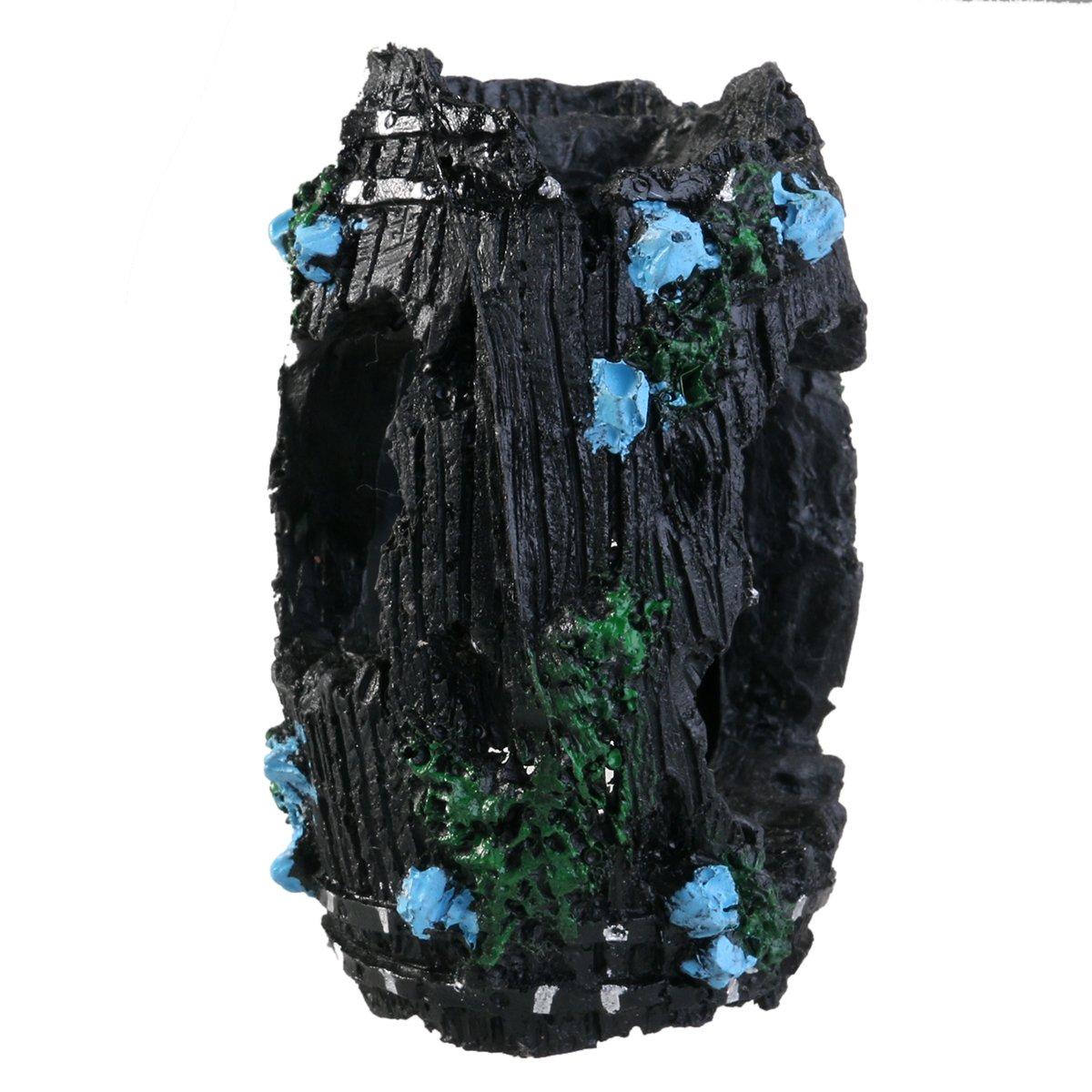 POPETPOP Artificial Tronco de /árbol Decoraci/ón del Acuario Tanque de Peces Betta Camarones Cueva de Madera Maceta