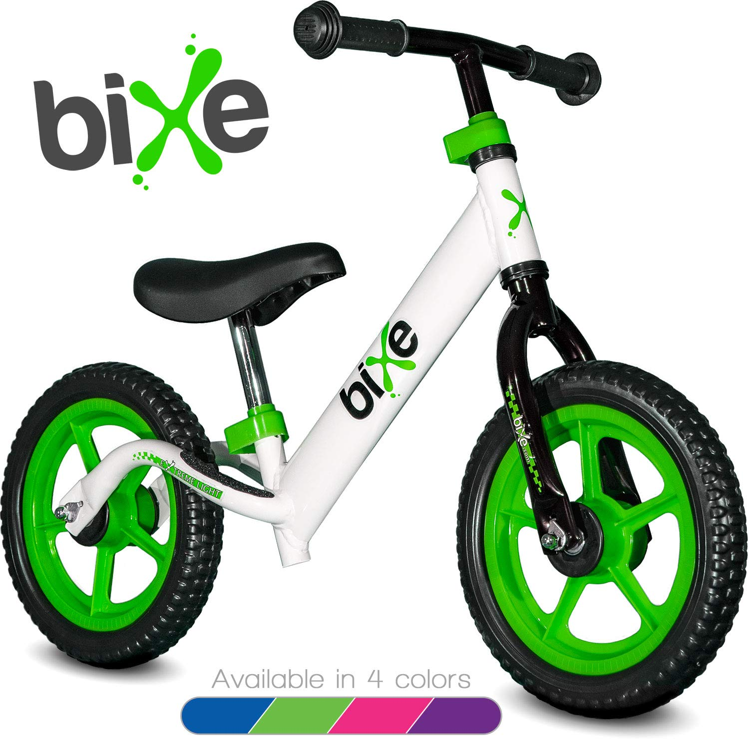 Green (4LBS) Aluminum Balance Bike for Kids and Toddlers - 12'' No Pedal Sport Training Bicycle for Children Ages 3,4,5,6.