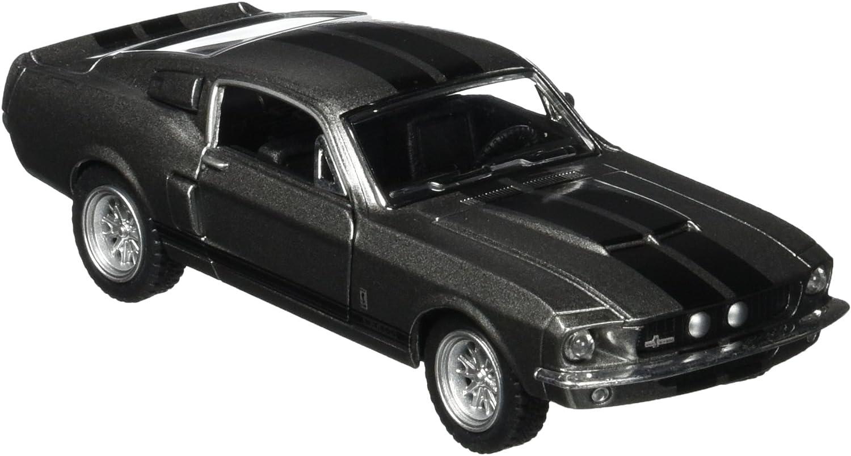 Retro Ford Shelby GT500 1:32 Die Cast Modellauto Spielzeugauto Pull Back Schwarz