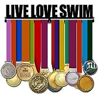 Medallero para Natación - Live Love Swim Frase