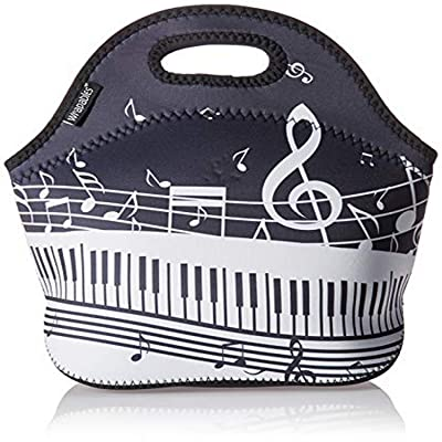 Wrapables A70834c Insulated Neoprene Reusable Lunch Bags, One Size, Musical Notes: Kitchen & Dining