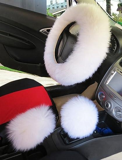 faux fur steering wheel cover warm faux wool handbrake fuzzyfaux fur steering wheel cover warm faux wool handbrake fuzzy fluffy sheepskin gear shift