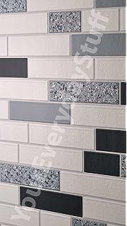 Delightful Holden Decor Wallpaper Tiling Oblong Granite Black 89191 Full Roll Part 13