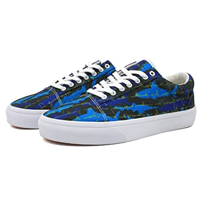 e81cf7a52fdf Blue Great Shark Men s Skate Shoes Casual Skateboarding Shoes (9 D(M) US