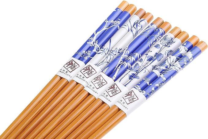 5 Paires NP-S5-GH03 Baguettes en Bambou orchid/é Bambou lorop/étale de Chine//» Quantum Abacus Basic: Lot de Baguettes Chinoises /«/Fleurs de pruniers