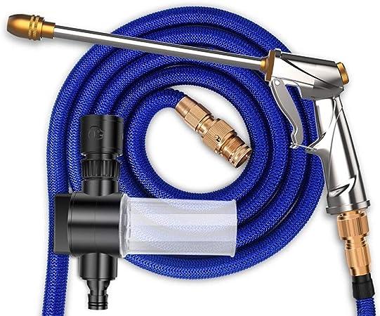 Tubo de manguera de agua de jardín Manguera Flexible, pistola de agua de alta presión para