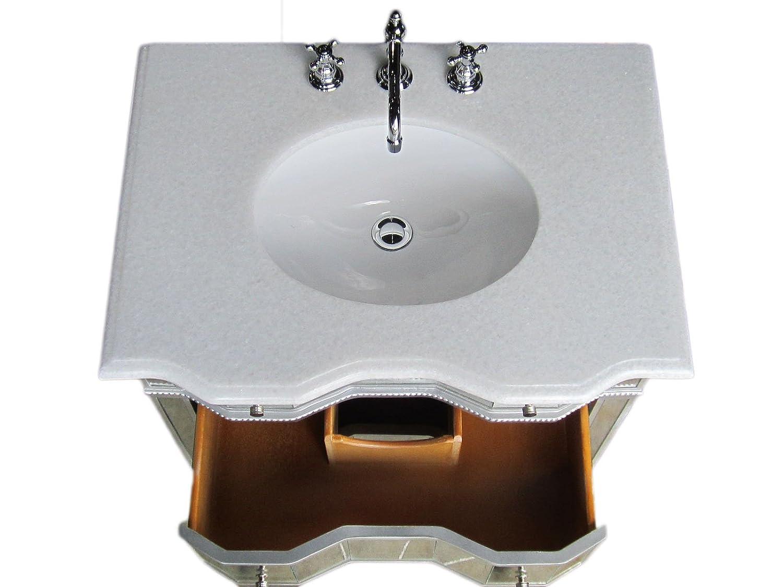 Mirrored bathroom vanity - 36 Mirrored Bathroom Sink Vanity Model Bwv 025 36 Ashley Amazon Com