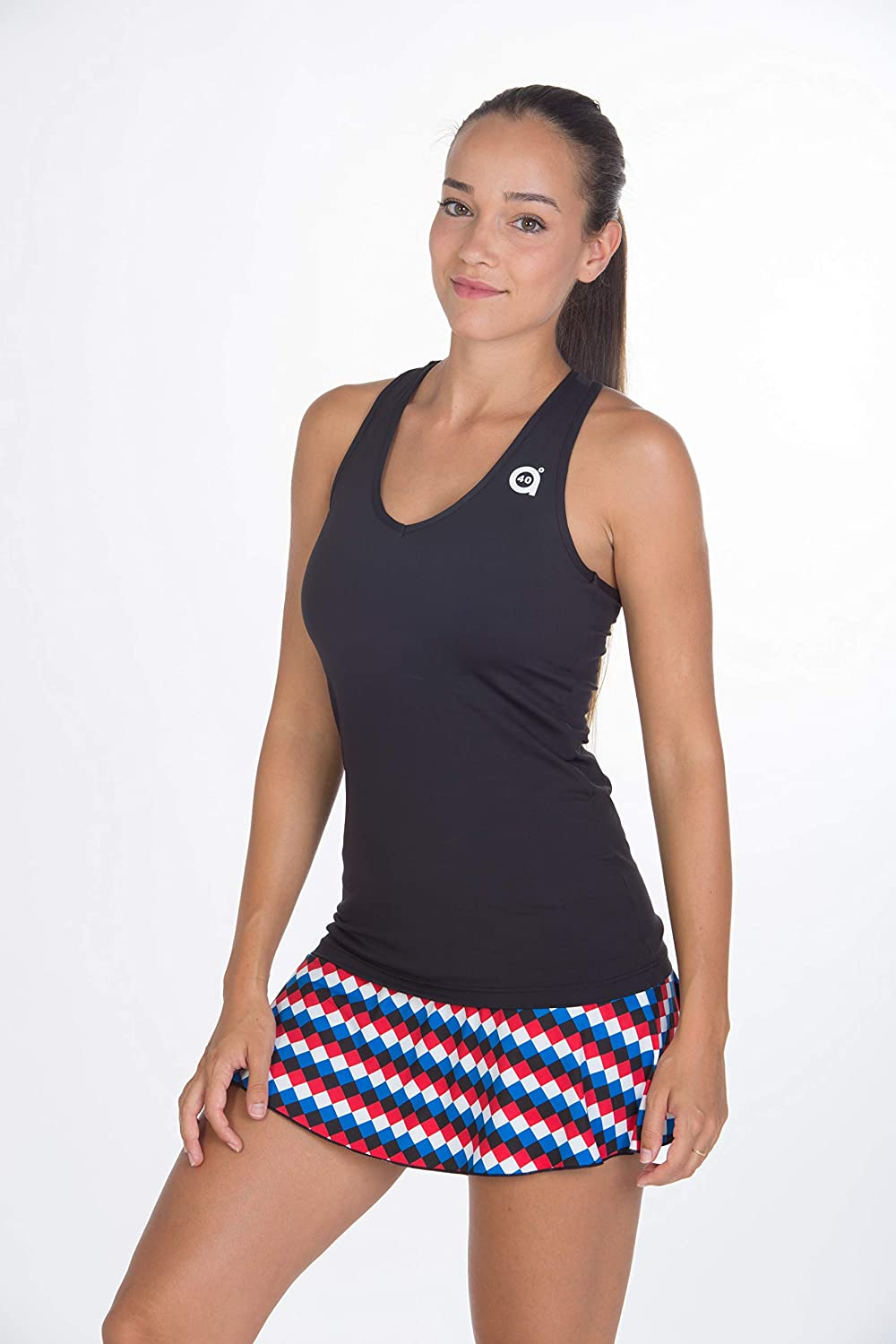 a40grados Sport /& Style Tennis and Paddle Woman Skirt Geometric
