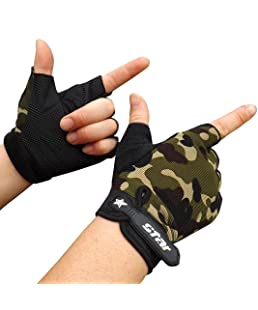 SOMESUN homme Antidérapant Fitness Mouvement Ride Garder au chaud Populaire Gants (XL, Camouflage)