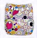 Bumberry Pocket Diaper (Retro Print) and 1 Microfiber Insert (Multicolor)