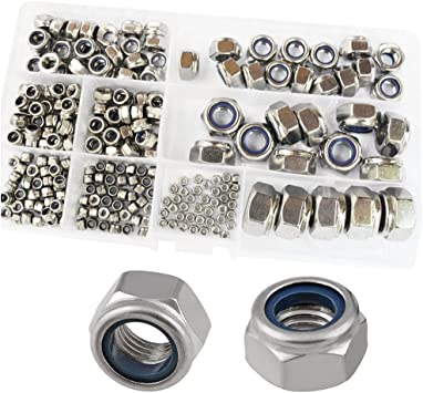 Right Hand,Metric,50-pieces M4 Stainless Steel Nylon Insert Lock Nut