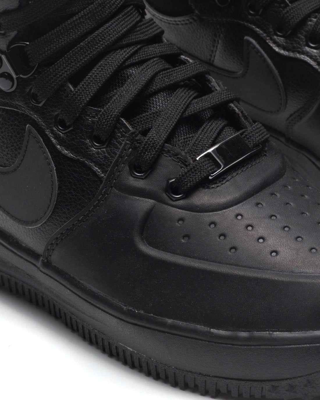 Nike Lunar Force 1 Sneakerboot (GS) Black/Black-Metallic Silver (4.5Y) by Nike (Image #6)