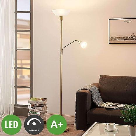 Deckenfluter gold messing Küche LED Schlafzimmer Wohnzimmer
