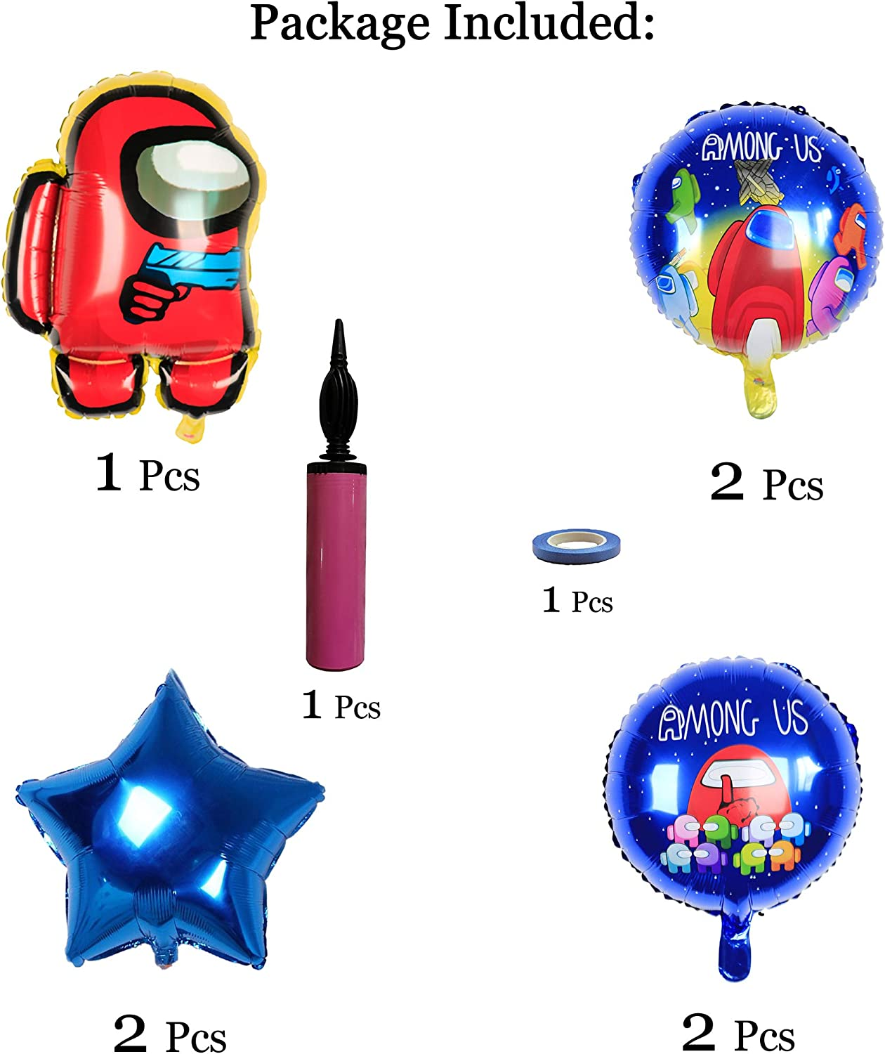 Among Us Birthday Balloons Party Supplies,Baby Shower Balloons ...