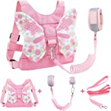Accmor 3 in 1 Toddler Harness Leashes + Anti Lost Wrist Link, Kids Harness Children Leash for Girls, Child Anti Lost Leash Ba