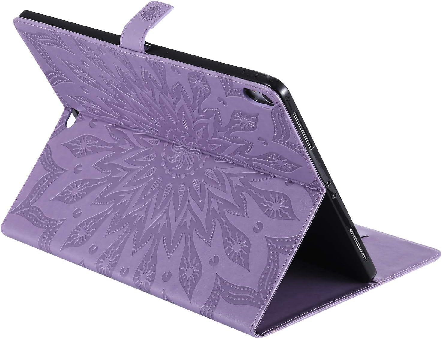 Huphant Kompatibel Mit iPad Pro 12.9 2018 Veision 2018 Veision Schutzh/ülle Flip Case 360 /° Protective Brieftasche h/ülle iPad Pro 12.9 Handyh/ülle Embossed Blume Kartenf/ächer -Grau