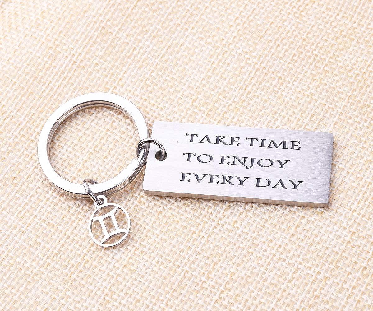 REEBOOOR Zodiac Sign Bracelet Keychain Constellation Jewelry Gift for Her