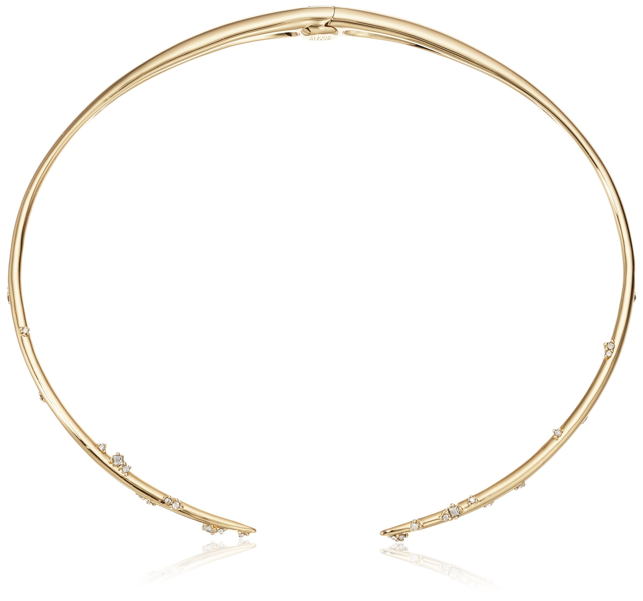 Alexis Bittar Satellite Crystal Spike Hinged Collar Choker Necklace