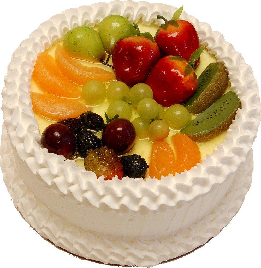 Vanilla Fake Fruit Cake 9 Inch
