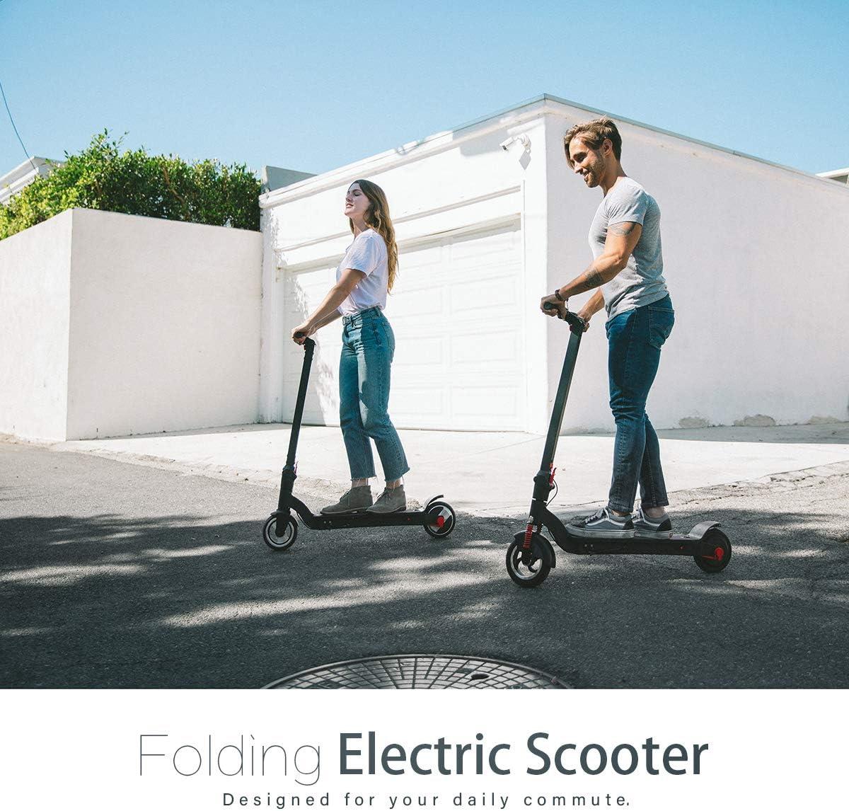 Amazon.com: XPRIT Patinete eléctrico plegable con rueda de ...
