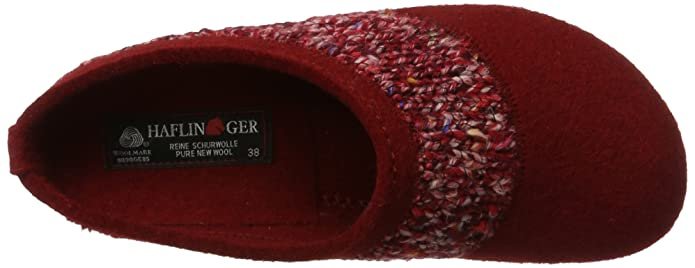 Haflinger Unisex-Erwachsene Grizzly Anke Hausschuhe, Rot (Rubin), 41 EU