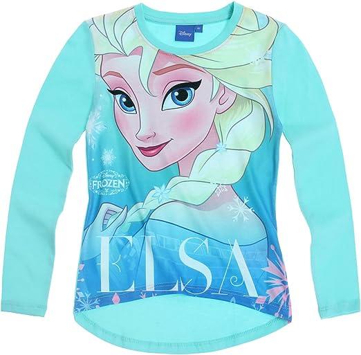 104-128 Disney Frozen Die Eiskönigin Elsa Anna Langarmshirt Gr hellblau