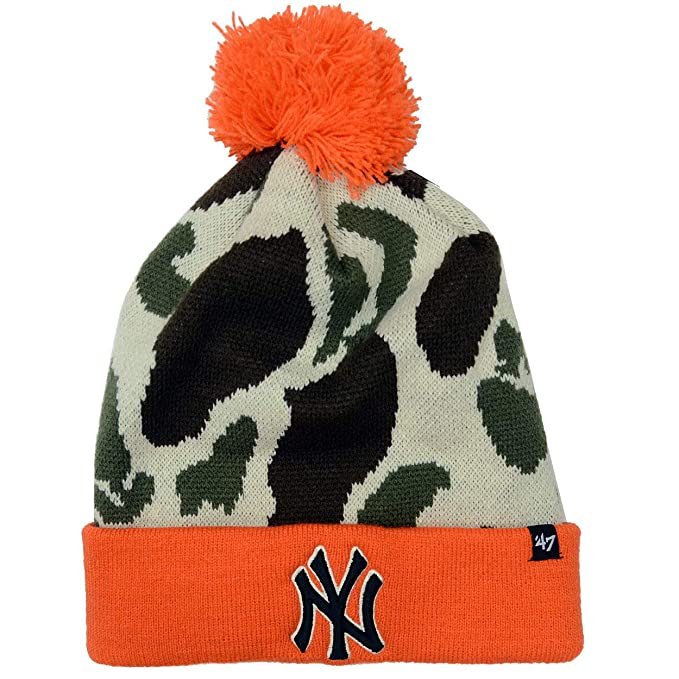 3798ba1b0f5 Image Unavailable. Image not available for. Color  New York Yankees 47 Brand  Bushroot Knit Hat ...