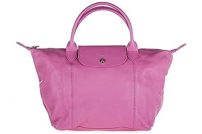 Longchamp Women S Leather Handbag Shopping Bag Purse Pink Handbags